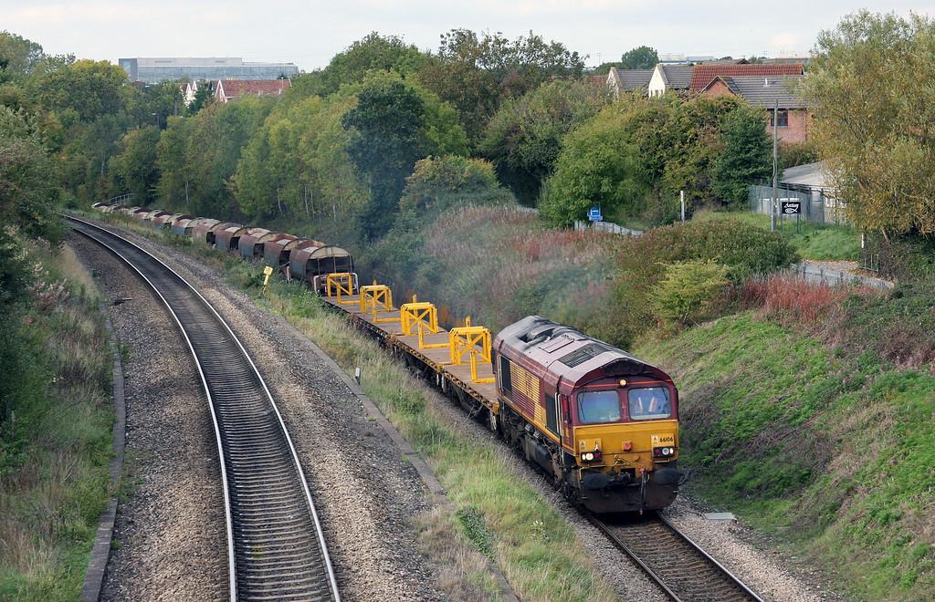 66106, 15.14 Newport Alexandra Dock Junction-Westbury Yard, Patchway, 7-10-10.