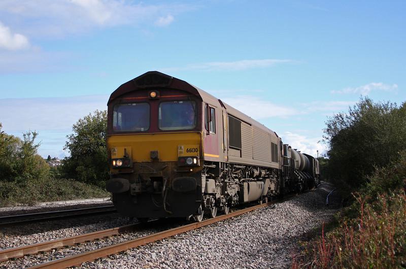 66130/66167, 08.45 Westbury-St Blazey, exhill Farm, Bathpool, Taunton, 22-10-10.