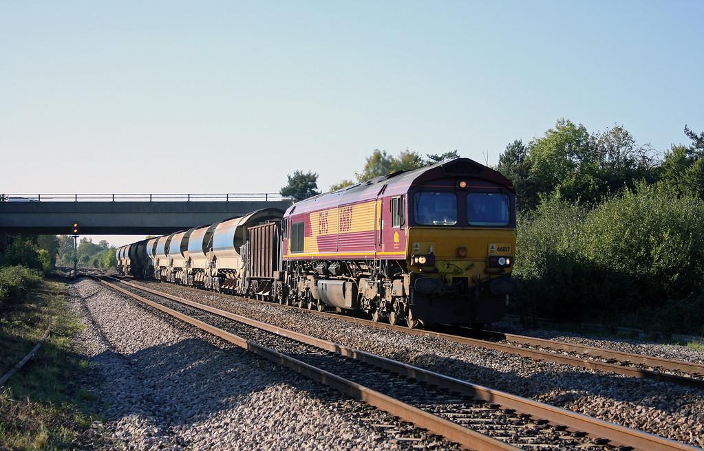 66187, 11.00 Goonbarrow Junction-Westbury, Rexhill Farm, Bathpool, Taunton, 11-10-10.