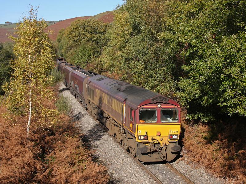 66120, 13.00 Cwmbargoed Opencast Colliery-Aberthaw Power Station, Trelewis, near Nelson, 25-10-10.