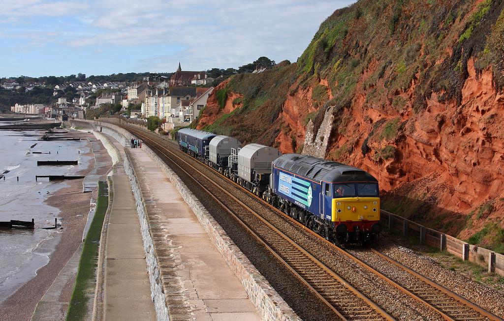 57010, 09.35 Plymouth Keyham-Carlisle Kingmoor, Dawlish, 21-10-10.