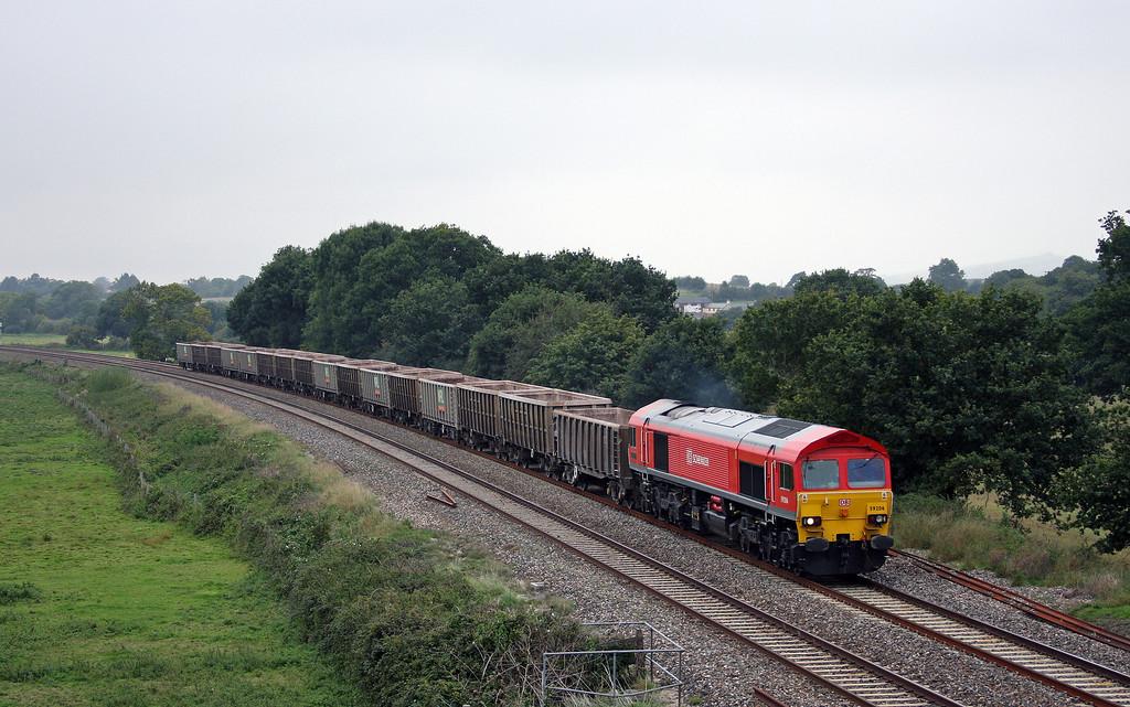 59206, 11.58 Exeter Riverside Yard-Westbury Yard, Ellerhayes, Silverton, 28-9-10.