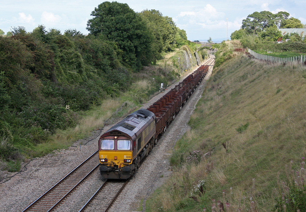 66230, 10.18 Corby-Margam,  Wye Valley Junction, Chepstow, 9-9-10.