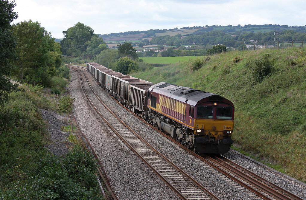66248, 11.58 Exeter Riverside Yard-Westbury Yard, Whiteball, 20-9-10.