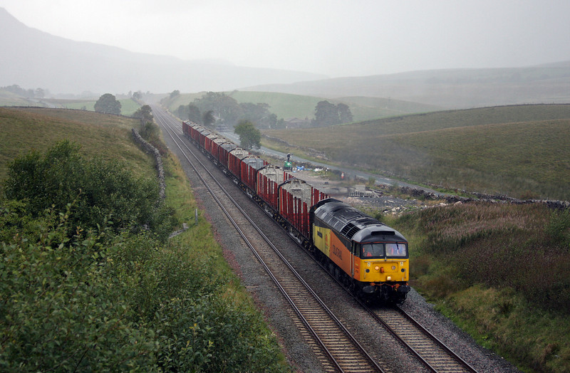 47739, 12.15 Carlisle Upperby-Hellifield-Ribblehead, Shotlock Hill Tunnel, near Garsdale, 14-9-10.