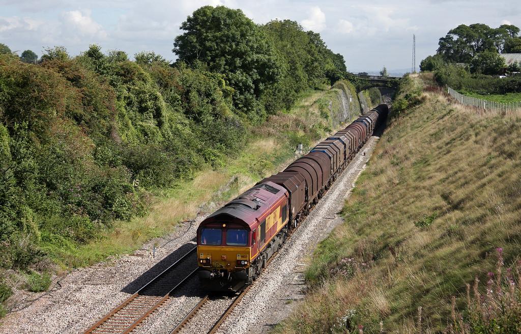 66137, 09.23 Round Oak-Margam, Wye Valley Junction, Chepstow, 9-9-10.