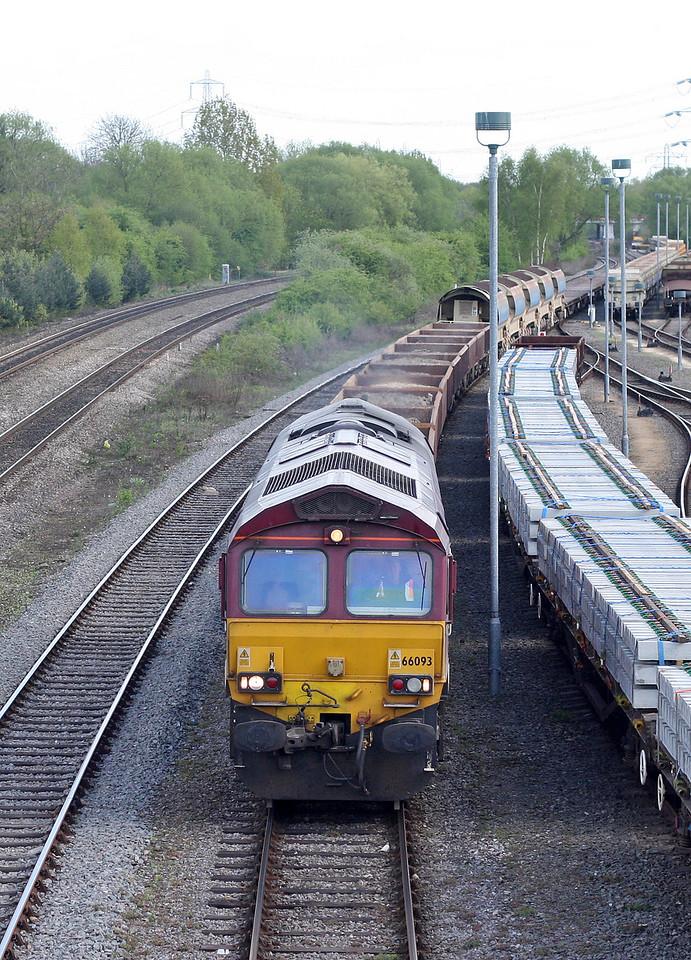 66093, departing Hinksey Yard, 12-4-11.