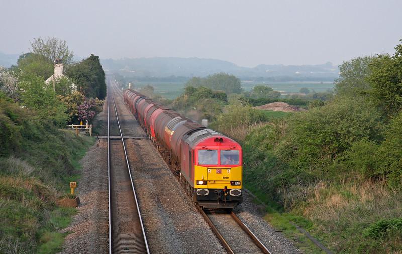 60011, 17.22 Westerleigh-Robeston, Woolaston, near Lydney, 20-4-11.