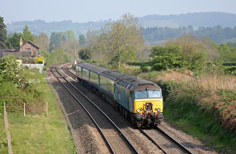 57315, 16.15 Cardiff Central-Holyhead, Penpergwm, near Abergavenny, 20-4-11.
