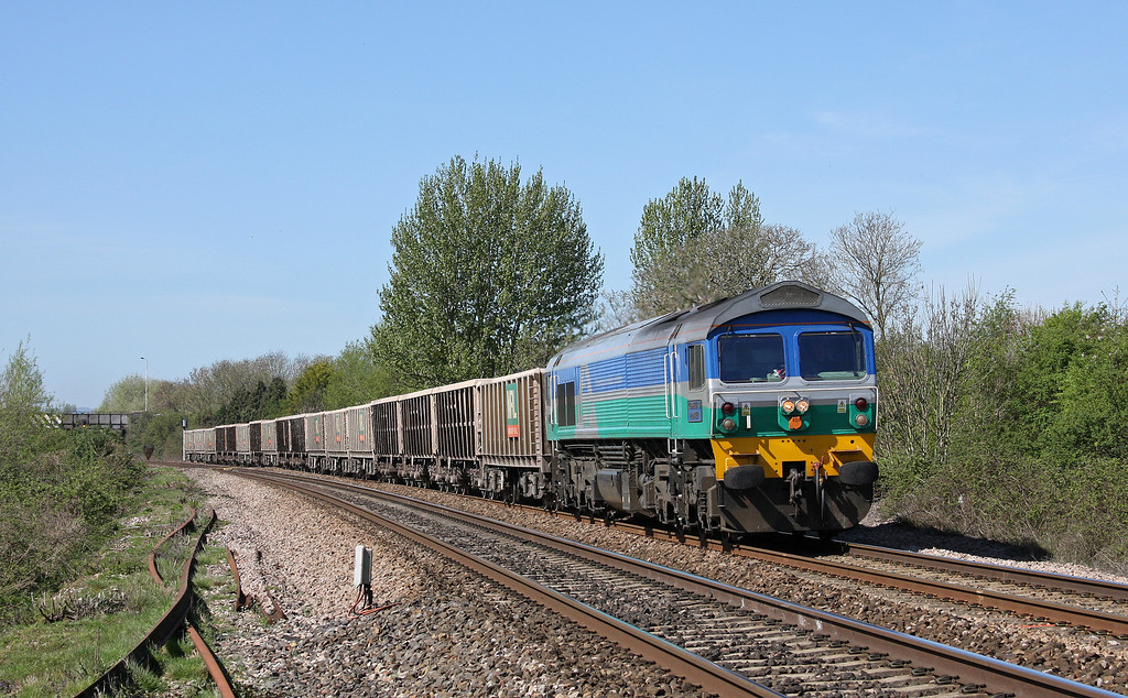 59005, 11.58 Exeter Riverside Yard-Whatley Quarry, Bathpool, Taunton, 7-4-11.