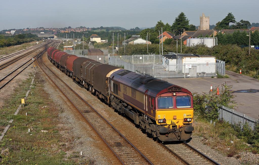 66031, 08.18 Llanwern-Swindon Steel Terminal, Severn Tunnel Junction, 19-8-11.