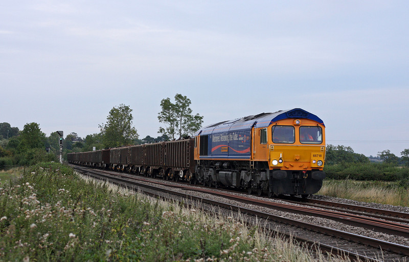 66718, 16.10 Handsworth-Cardiff Tidal, Grange Court Junction, near Westbury-on-Severn, 19-8-11.