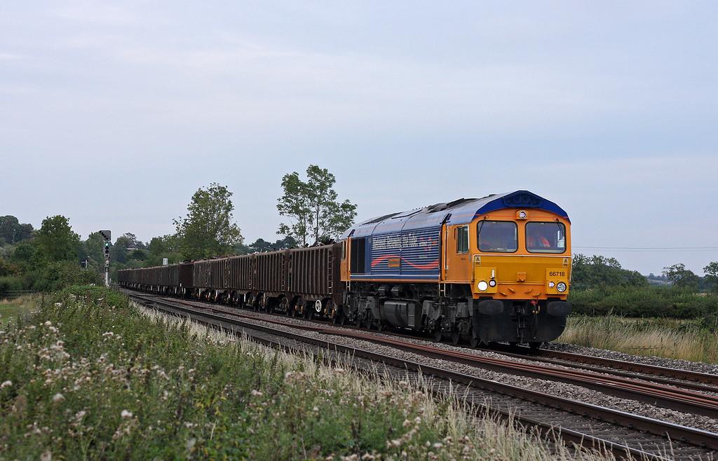 66718, 16.10 Handsworth-Cardiff Tidal, Grange Court Junction, near Westbury-on-Severn, 19-8-11.