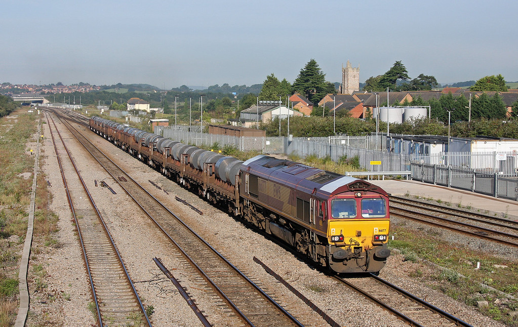 66177, 05.50 Margam-Corby, Severn Tunnel Junction, 19-8-11.