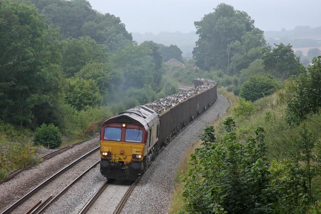 66003, 17.18 Exeter Alphington Road-Cardiff Tidal, Whiteball, 11-8-11.