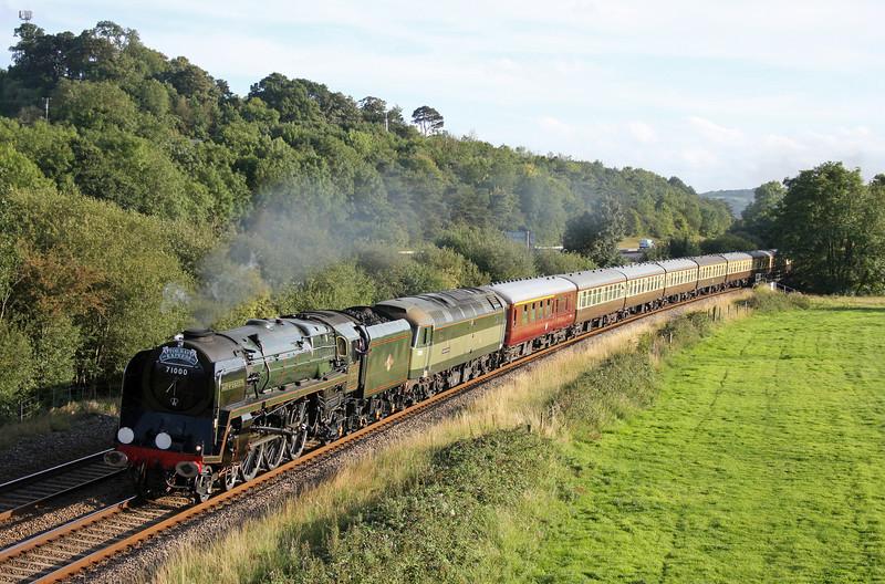71000/47815, 16.45 Kingswear-Bristol Temple Meads, Torbay Express, Cullompton, 21-8-11.