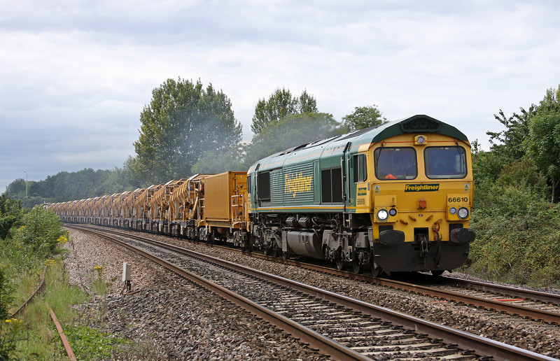66610, 14.52 Taunton Fairwater Yard-Bath-Westbury-Taunton Fairwater Yard, Bathpool, Taunton, 5-8-11.