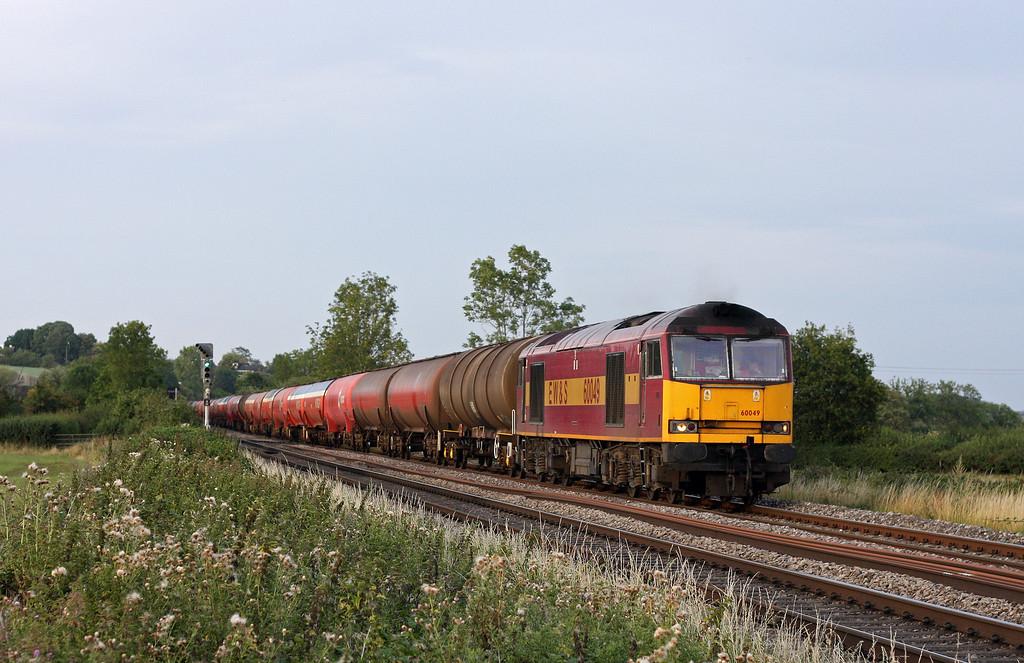 60049, 18.22 Westerleigh-Robeston, Grange Court Junction, near Westbury-on Severn, 19-8-11.