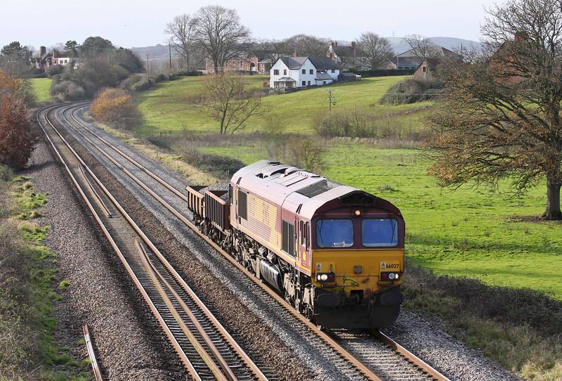 66027, 11.49 Exeter Exmouth Junction Yard-Westbury Yard, Rewe, near Exeter, 13-12-11.