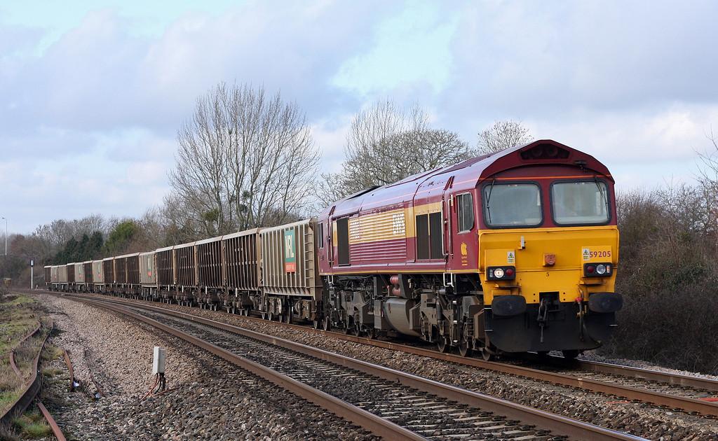 59205, 11.58 Exeter Riverside Yard-Whatley Quarry, Bathpool, Taunton, 11-2-11.
