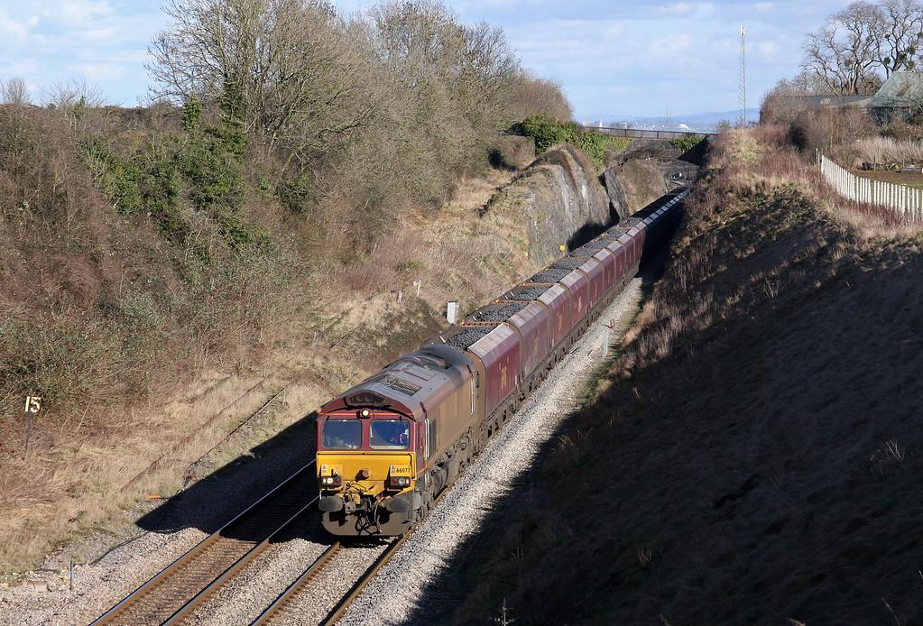 66077, 03.53 Redcar-Margam, Wye Valley Junction, Chepstow, 14-2-11.