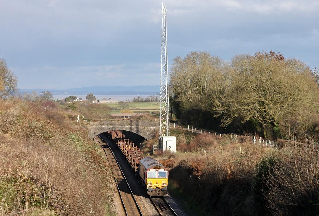 66070, 10.10 Corby-Margam, Sedbury Lane, Chepstow, 14-2-11.