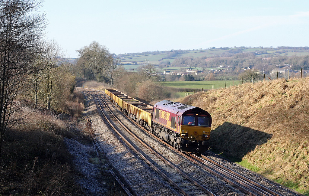 66175, 11.20 Totnes-Westbury Yard, Whiteball, 30-1-11, running early.