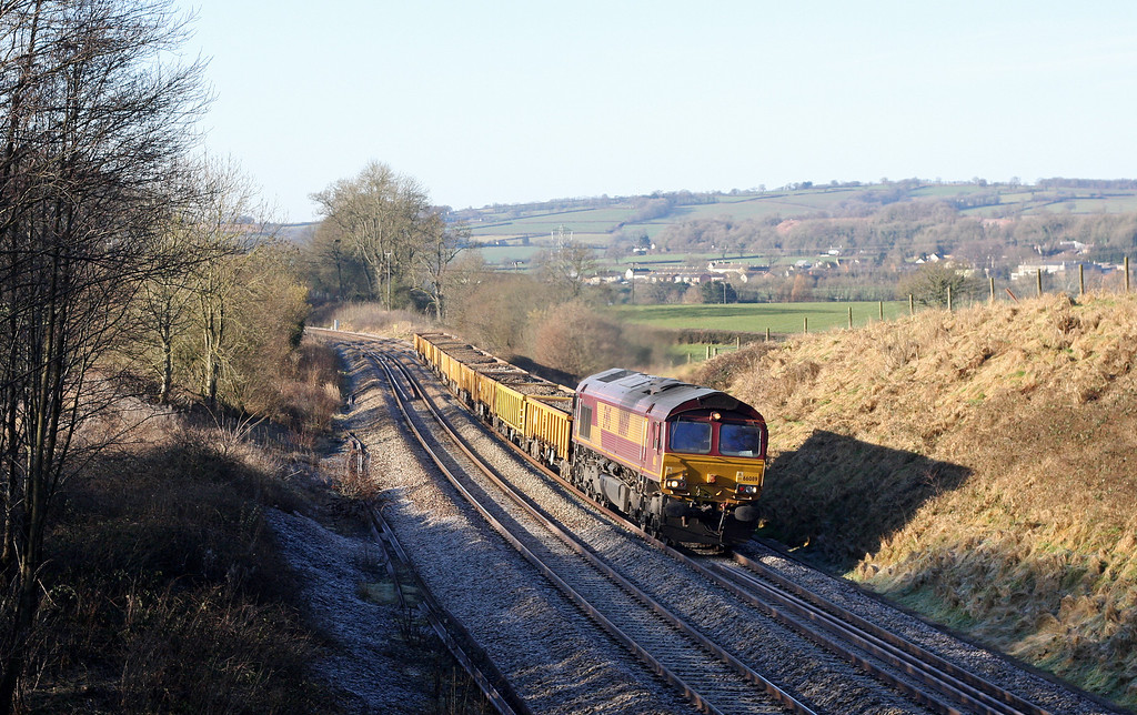 66089, 09.30 Totnes-Westbury Yard, Whiteball, 30-1-11.