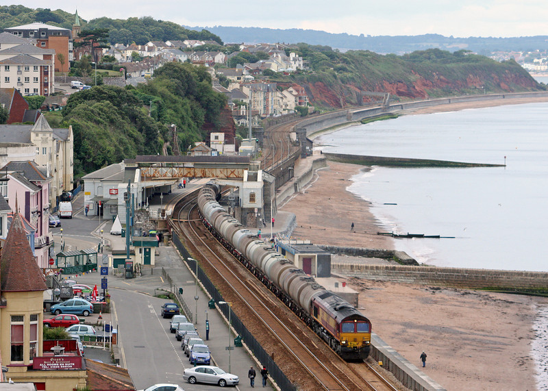 66007, 15.31 Bristol St Philip's Marsh-Plymouth Tavistock Junction Yard, Dawlish, 19-7-11.