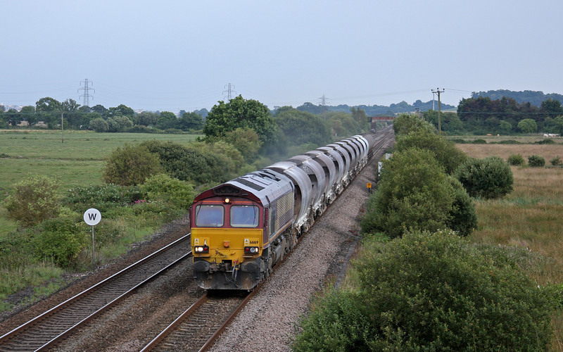 66169, 16.15 St Blazey-Newport Alexandra Dock Junction, Exminster, near Exeter, 21-7-11.