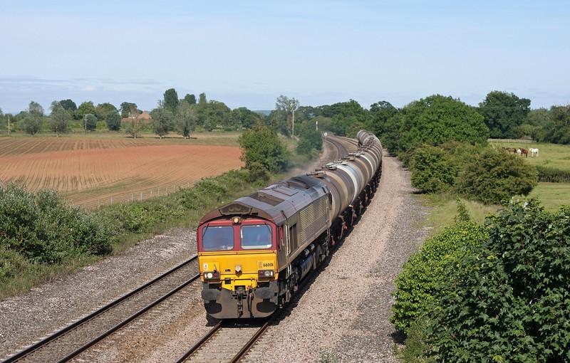 66001, 15.31 Bristol St Philip's Marsh-Plymouth Tavistock Junction Yard, Creech St Michael, near Taunton, 14-6-11.