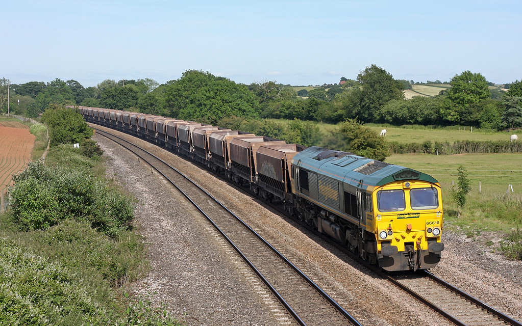 66616, 12.30 Thorney Mill-Newton Abbot Hackney Yard, Creech St Michael, near Taunton, 14-6-11.