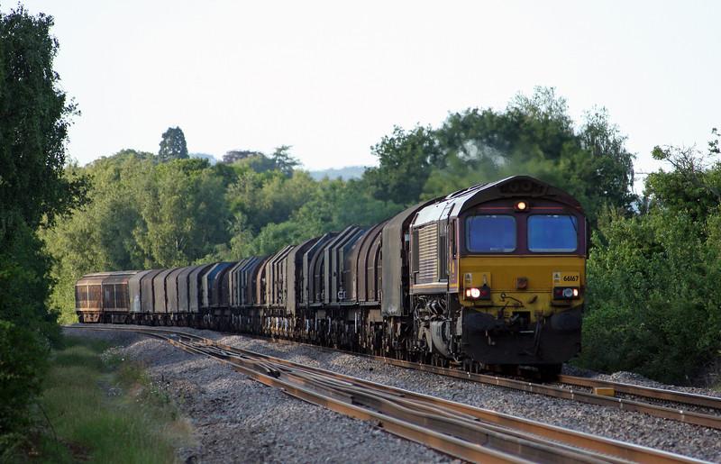 66167, 17.04 Round Oak-Margam, Bullo Pill, near Newnham, Gloucestershire, 3-6-11.