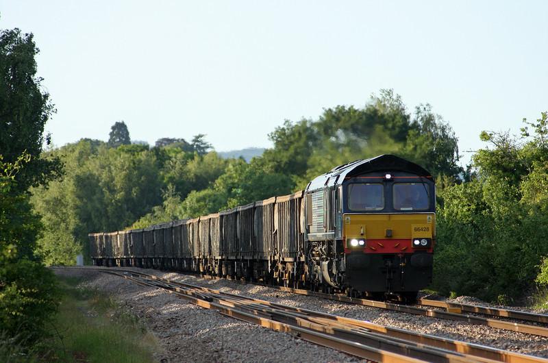 66428, 09.20 Stockton-Cardiff, Bullo Pill, near Newnham, Gloucestershire, 3-6-11.