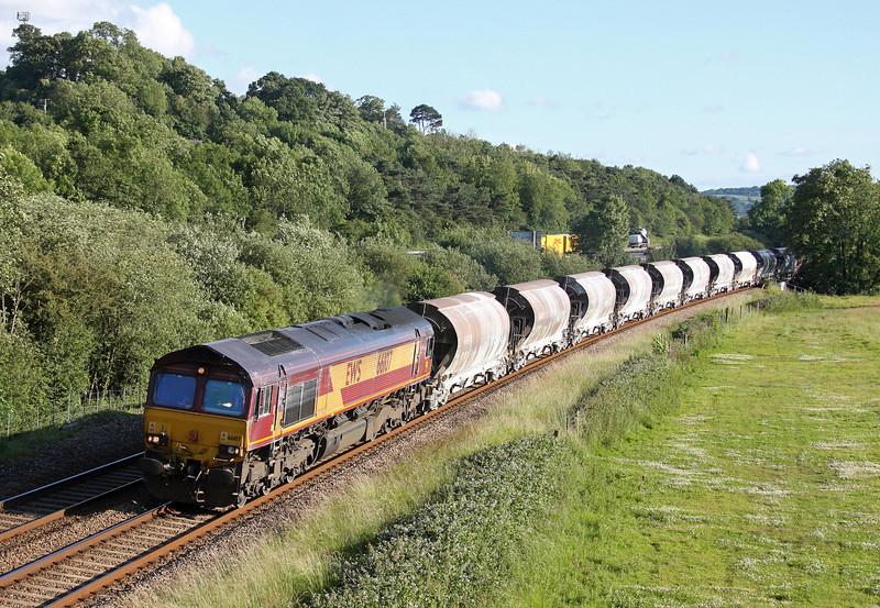 66107, 16.13 St Blazey-Newport Alexandra Dock Junction, Cullompton, 23-6-11.
