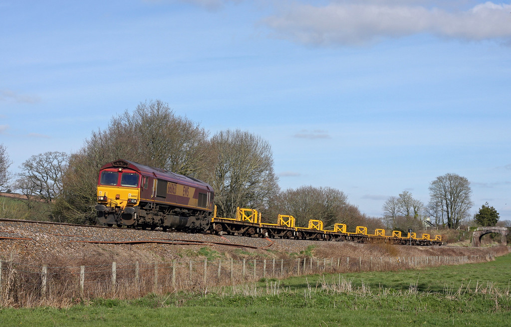 66063, 13.23 Westbury Yard-Plymouth Tavistock Junction Yard, Ellerhayes, Silverton, 17-3-11.