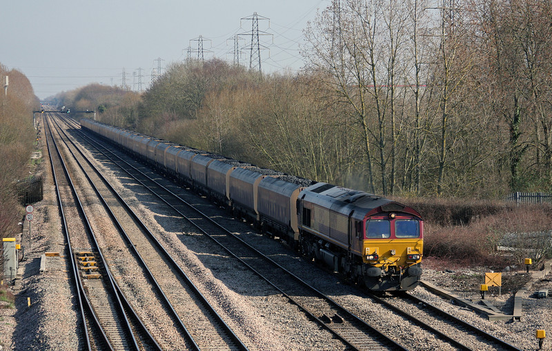 66109, 03.53 Redcar-Margam, Llanwern West Junction, 4-3-11.