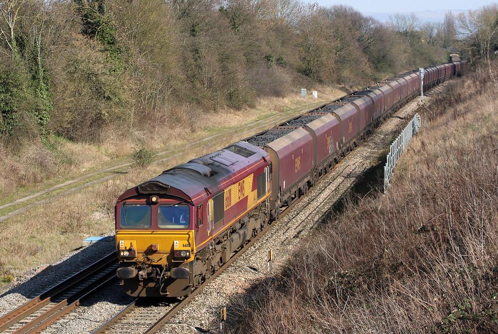 66111, 03.53 Redcar-Margam, Churchdown, near Gloucester, 7-3-11.