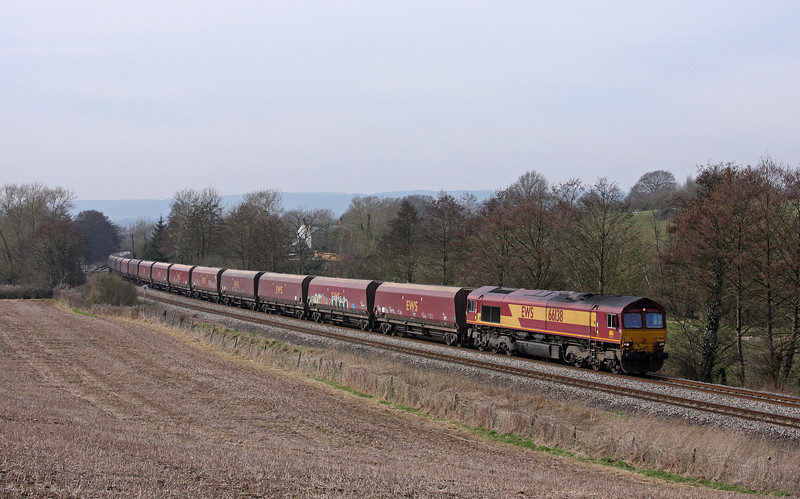 66138. 08.55 Margam-Redcar, Cliff Farm, Lydney, 14-3-11.