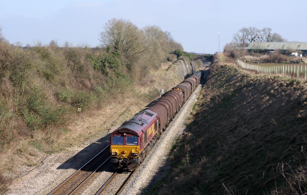 66193, 09.23 Round Oak-Margam, Wye Valley Junction, Chepstow, 4-3-11.