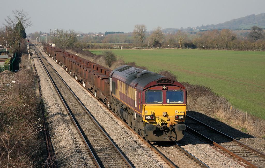 66015, 10.18 Corby-Margam, Ashchurch, Gloucestershire, 7-3-11.