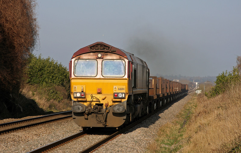 66114, 10.10 Corby-Margam, Woolaston, near Lydney, 4-3-11.