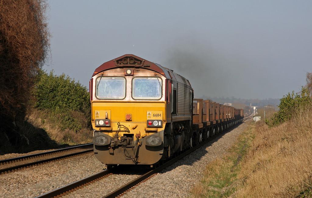66114, 10.10 Corby-Margam, Woolaston, near Lydney, 4-3-11.