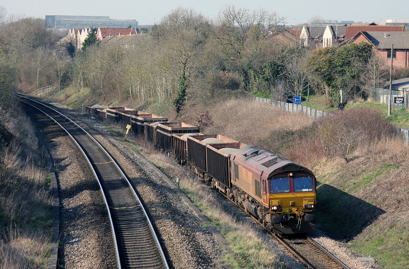 66130, 12.38 Moreton-on-Lugg-Acton Yard, Patchway, 23-3-11.