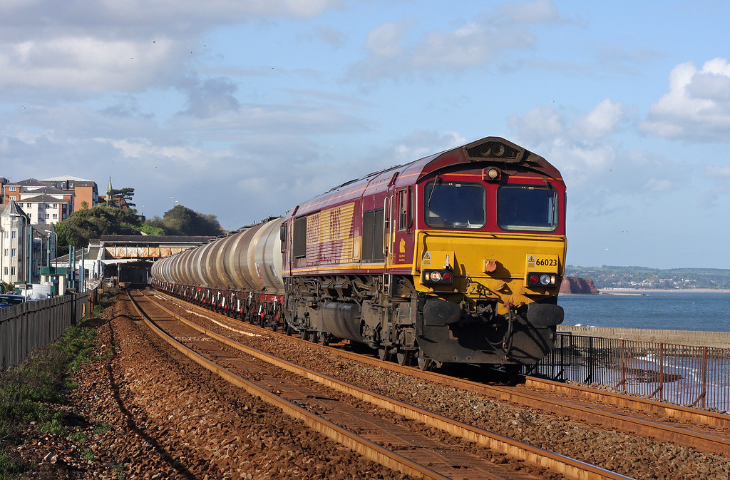 66023, 15.16 Bristol St Philip's Marsh-Plymouth Tavistock Junction Yard,<br /> Dawlish, 10-5-11.