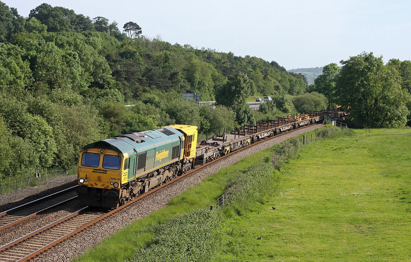 66619, 16.45 Newton Abbot Hackney Yard-Goring and Streatley, Cullompton, 25-5-11.