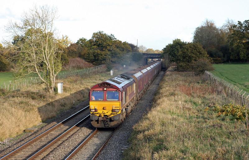 66008, 12.20 Didcot Power Station-Avonmouth Bulk Handing Terminal, Acton Turville, near Badminton, 1-11-11.