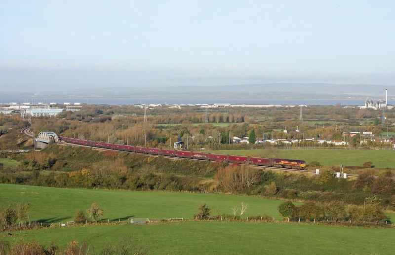 66156, 09.24 Avonmouth Bulk Handling Terminal-Aberthaw Power Station, Hallen Marsh, Bristol, 17-11-11.