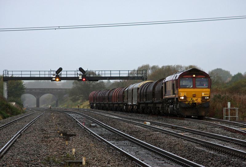 66083, 08.18 Llanwern-Swindon Steel Terminal, Pilning, 1-11-11.