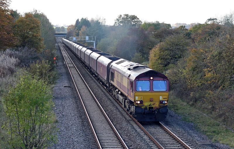 66151, 13.24 Avonmouth Bulk Handing Terminal-Didcot Power Station, Acton Turville, near Badminton, 1-11-11.